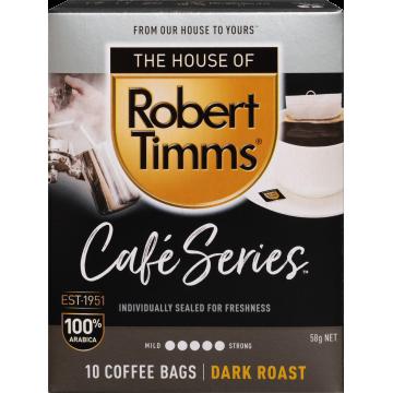 Robert Timms Café Series 100% Arabica Coffee Bags 10s (Dark Roast)