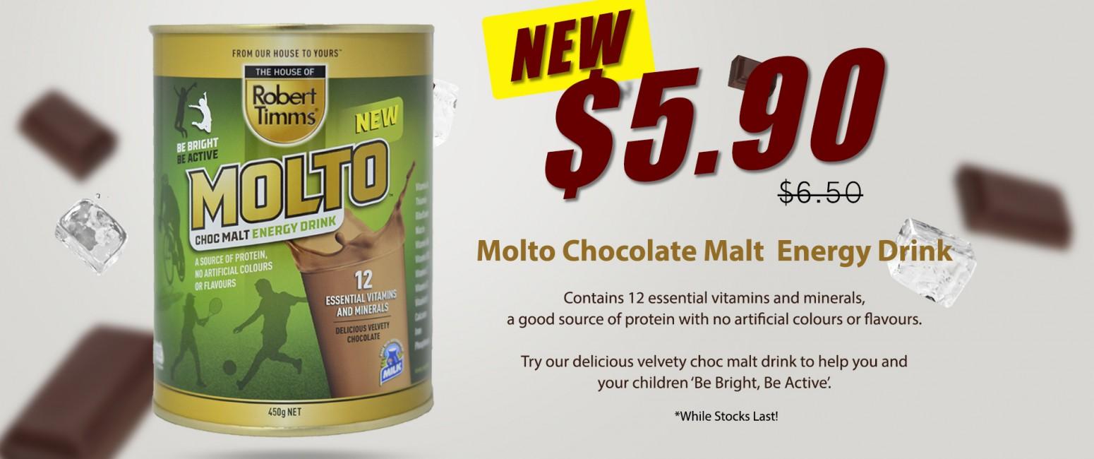 RT Molto Chocolate Malt $5.90