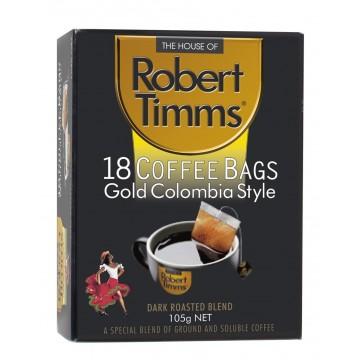Robert Timms Gold Columbian Coffee Bags 18's