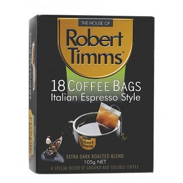 Robert Timms Italian Espresso Coffee Bags 18's